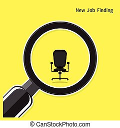 New job finding concept. Search for an employee. Looking For Talent. Search for businessman