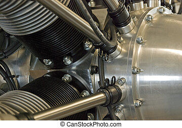 Radial aircraft engine - Partial side view