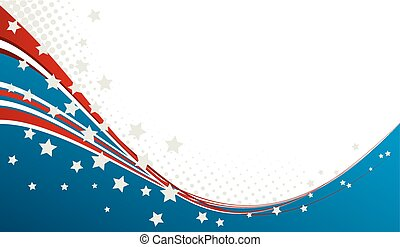 American Flag, Vector patriotic background for Independence...