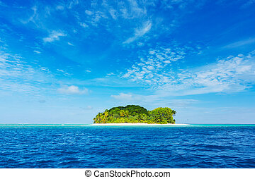 Beautiful Tropical Island - Tropical Island, Blue Ocean and...