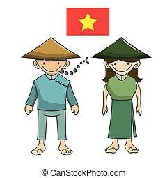 Character of vietnam vector cartoon