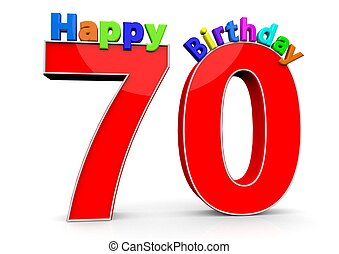 70 number birthday years happy clipart royalty clip 70s seventy illustrations colorful vector graphics gograph drawings letters