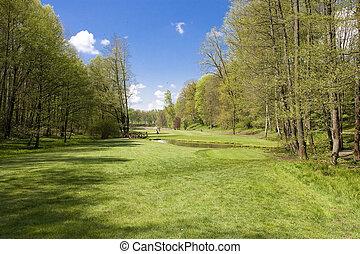 golf course - fairway of a golf course