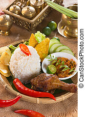 indonesian fried chicken rice