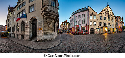 Panorama of Tallinn Old Town in the Morning, Tallinn, Estonia