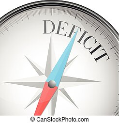 compass deficit - detailed illustration of a compass with...