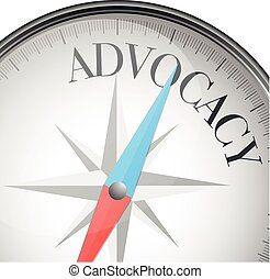 compass_advocacy - detailed illustration of a compass with...