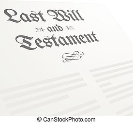 Last Will - detailed illustration of a Last Will and...