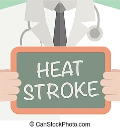 Medical Board Heat Stroke - minimalistic illustration of a...