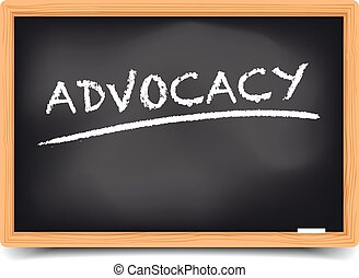 blackboard advocacy - detailed illustration of a blackboard...