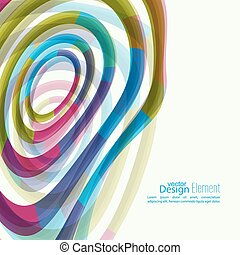 Abstract background with colored Hypnosis shape. For cover...