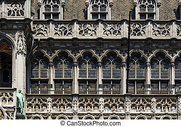 Facade of Maison du Roi (The King's House or Het Broodhuis)...