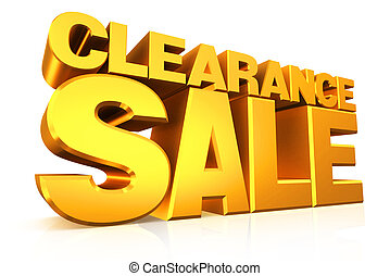 3D gold text clearance sale. - 3D gold text clearance sale...