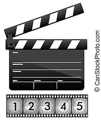 Movie clapper board