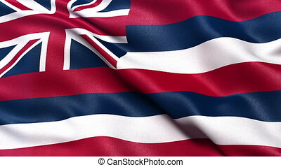 Hawaii state flag seamless loop
