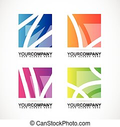 Company logo square abstract elements