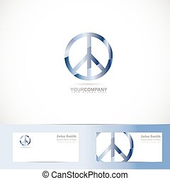 Peace flower power sign symbol logo - Vector logo template...