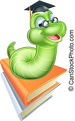 Cute Cartoon Caterpillar Worm - Happy cartoon caterpillar...