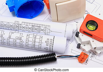 Electrical components, accessories for engineering jobs and...