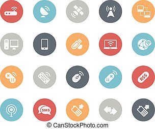 Wireless Communications Icons - Vector icons for your web,...