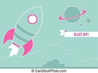 Space Rocket - An illustration of a space rocket