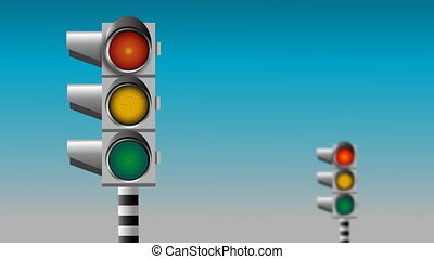 Traffic light - Non-stop flashing traffic lights