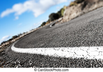 Road background - Detail curved road background.lines...