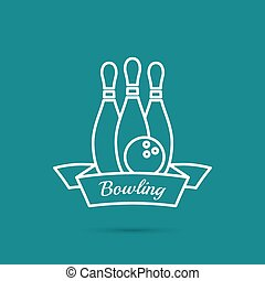 Bowling. Pin and ball. The concept of games, entertainment,...