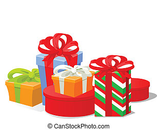Christmas gifts - Vector illustration of Christmas gifts