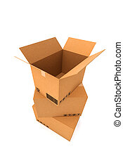 Cardboard boxes. Cargo, delivery and transportation...