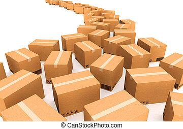 紙板, 箱子