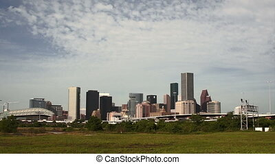 Houston Skyline Southern Texas Big City Downtown Metropolis...