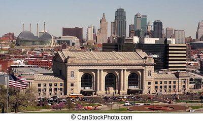 Kansas City Missouri Clay County Downtown City Skyline...