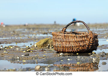 Wicker basket on quot;Le Goisquot; - Wicker basket on Le...