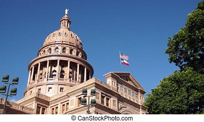 Capital Building Austin Texas Government Building Blue Skies...