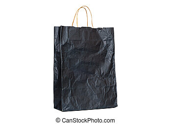 Paper bags with handles - old paper bag with handles dark,...