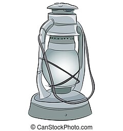 Oil Lamp Icon - An image of of a oil lantern.