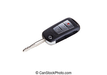 car key remote control isolated on white background