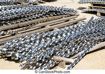 aluminium helical strips - abandoned aluminium helical...