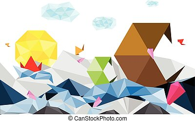 abstract art polygon background