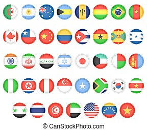 Flags of different countries - Set of flags of the countries...