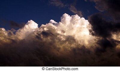 Dramatic Cloudscape Late Afternoon Sky Cumulonimbus Clouds -...