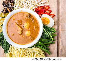 Malaysian Curry Noodles Ingredients - Malaysian curry...