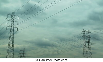Electric Pylon Storm Time-lapse - Time-lapse of a storm...