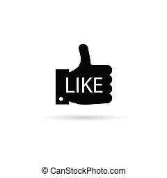 like with finger up vector illustration - like with finger...