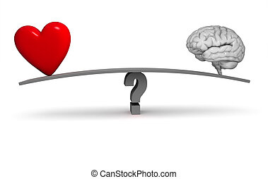 Follow Your Heart Or Your Head? - A bright, red heart and...