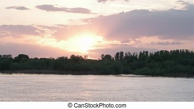 Sun, sky and waters of Volga river Russia - Sun, sky and...
