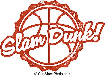 Slam Dunk Basketball Stamp