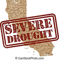 California Severe Drought - California drought graphic