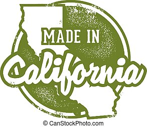 Made in California USA - Vintage style made in California...
